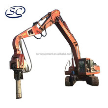bore pile hammer vibro hammer mounted by excavator for foundation pile