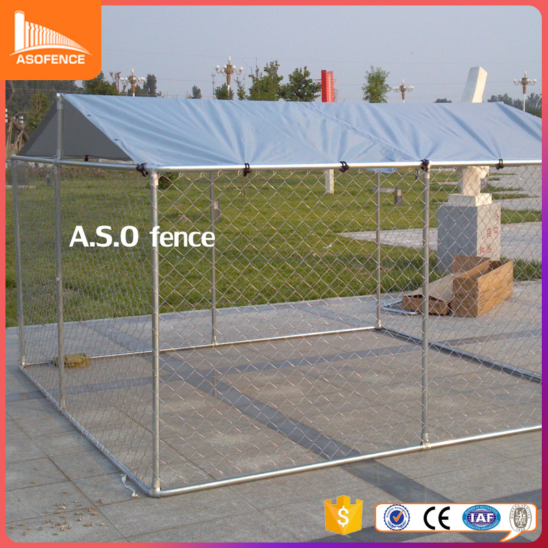 Large galvanized and welded dog kennel building