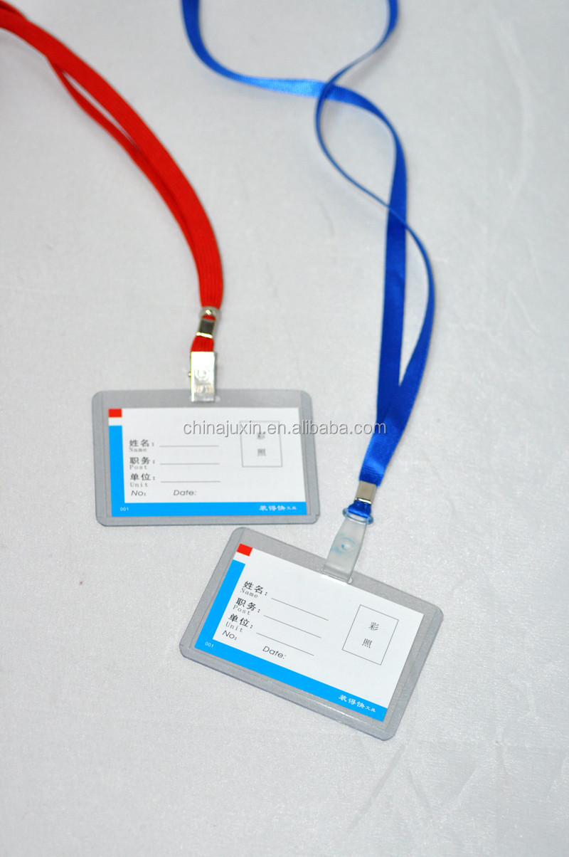 Hard ID Card Holder Transparent PVC Card Holder