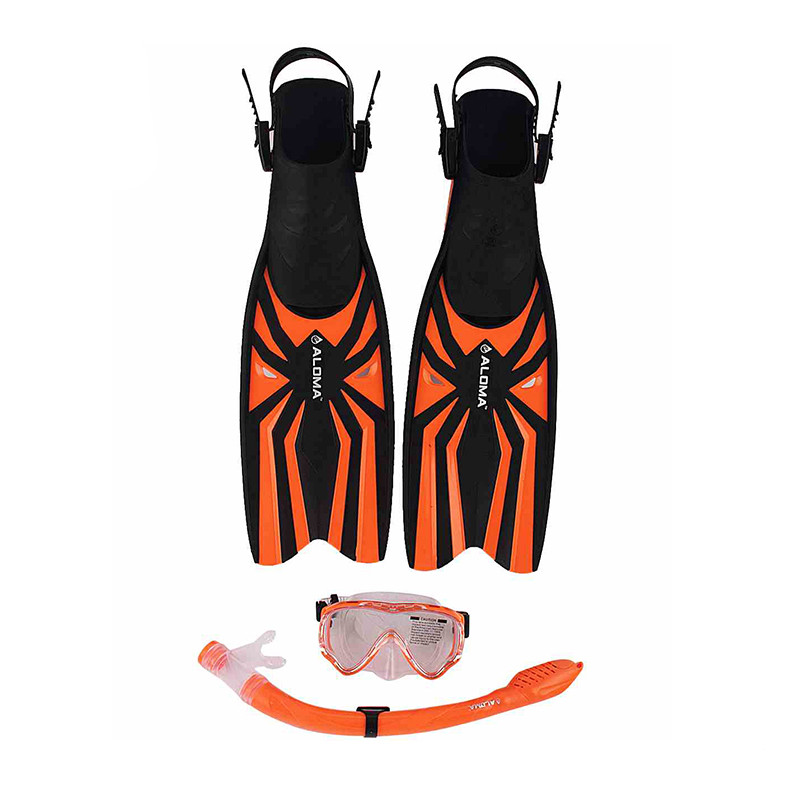 Kids Water Sports Silicone swimming snorkels masks and rubber Fins