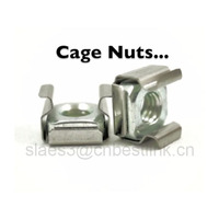 Nickel plated or white zinc plated M6 cage nut