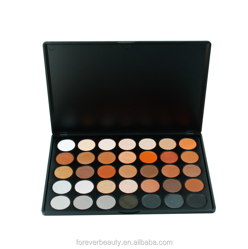 Hot sale cosmetics makeup 35 colors eye shadow palette
