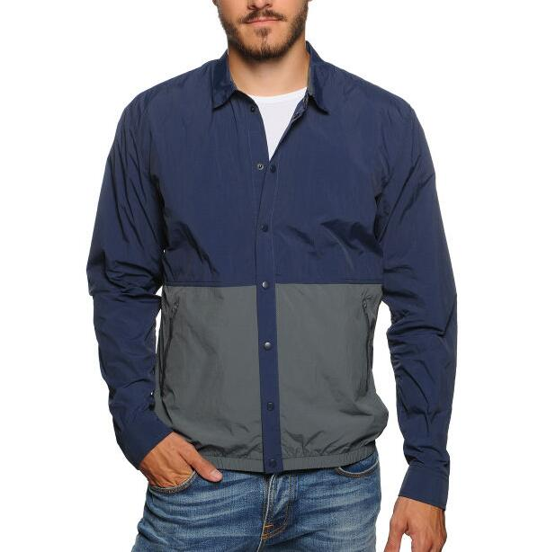 Men's button placket lightweight polyamide season jacket