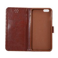 High Quality Wallet Flip Leather Case Cover for iphone 6s