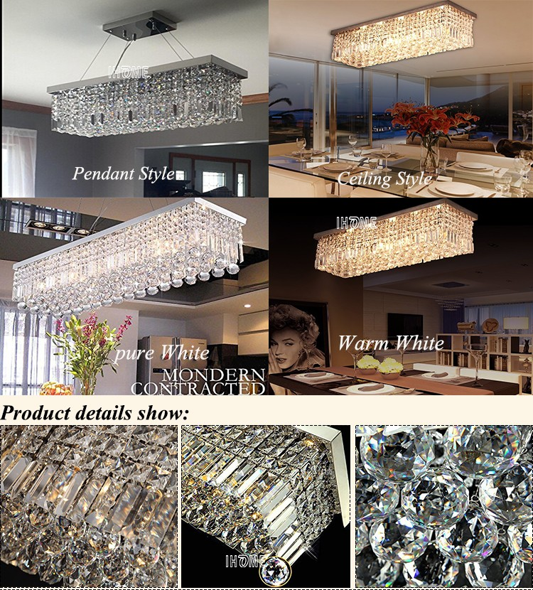 Modern crystal chandelier lighting for wedding