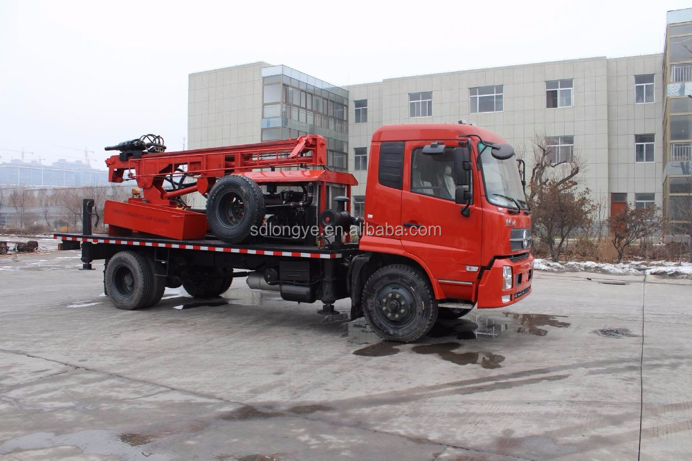 High speed truck-mounted borewell drilling machine SLY300