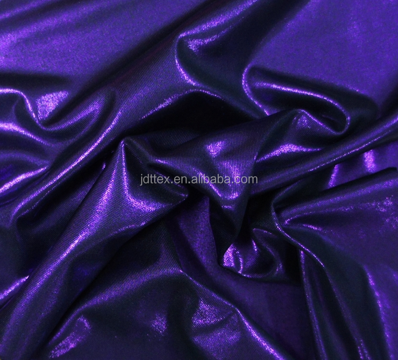 matte spandex nylon tricot with neon glitter foil fabric for bikini, swimwear