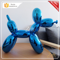 Free Shipping Colored Resin Balloon Dog Statue