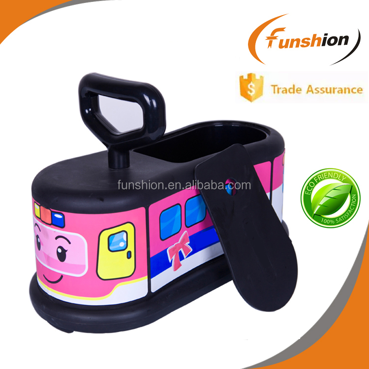 kids smart training car PP toy with handlebar