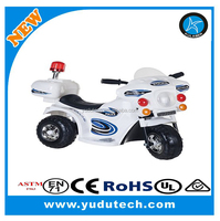 Police motorcycle Supersport Motorized Battery Powered Motorcycle, Kids Electric Ride on Car,