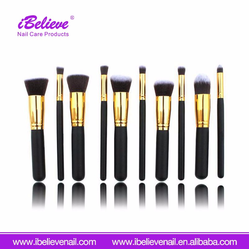 Wholesale Price Women Makeup Tool Personalized Wooden Handle Nylon Hair Cosmetic Brush Set