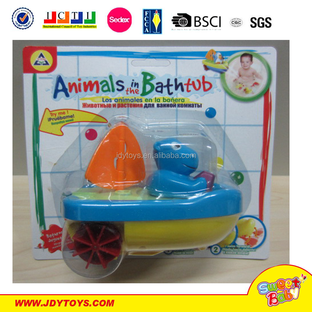 Pull line 2 in 1 water and land ship penguin duck hippo lovely animal baby toy