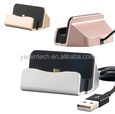 3 in 1 Universal Micro USB mobile phone charging holder Station Desktop Sync Dock Charger For Android Phone