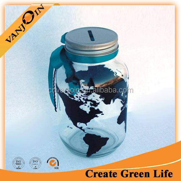 World Travels Fund Customizable Mason Jar Bank Jar