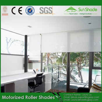 Customized size best price window blinds ready made Motorized window shades cost