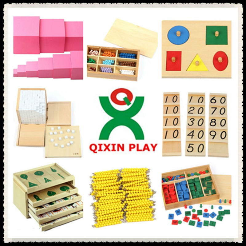 Beech wood montessori educational toys/montessori furniture/montessori materials in china 216 full sets (1 set=216pcs) QX-B4801