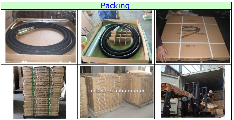 Professionally Dynapac concrete vibrator hose for model ZX-38/45/60mm