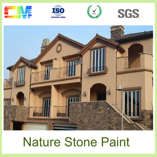 Hot sales waterpfoof low VOC fire proof natural stone texture paint for exterior wall