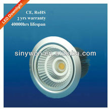 CE RoHS 10W COB 90mm Cutout Size Dimmable Led Downlight