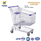 Asia Style Carrefour Shopping Cart Trolley With Adjustable Handle