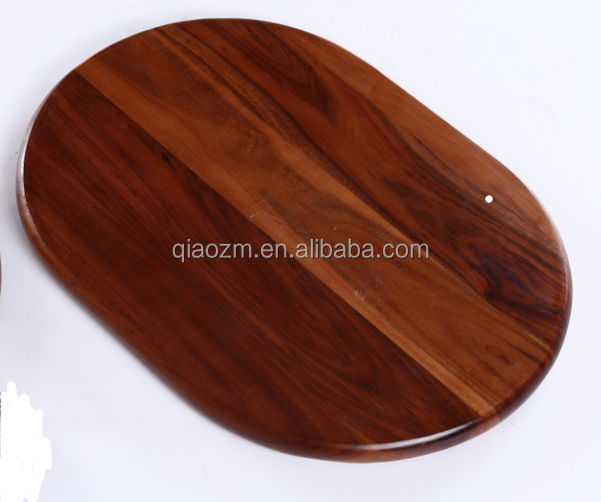 Oval Acacia wooden chopping board, cutting board meat vegetable Chopper salad chopping board