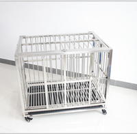 China Dog Cage Trolley Foldable Stainless Steel Galvanized Cages For Dogs