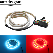 "Universal 47.6"" 5-Function RGB colorful Flexible 5050 LED Light Strip Tailgate Bar Backup Reverse Brake Tail Turn Signal Light"