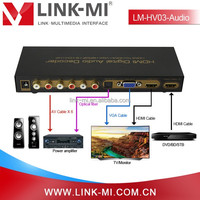 LINK-MI LM-HV03-Audio With Audio Extractor Digital SPDIF Audio RCA Analog HDMI to VGA Audio Converter