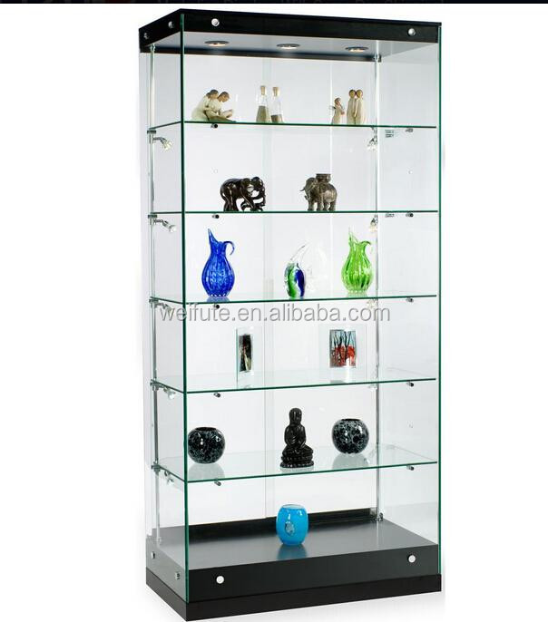 New design wooden glass display cabinet showcase display for Showcase shelf designs