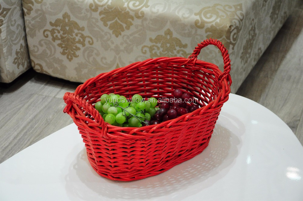 fruit vegetable handmade wicker basket