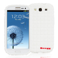 Snugg case for Samsung Galaxy S3 Squared Skinny Fit Protective Cover in White