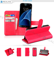 customized 2 in 1 detachable strong magnetic universal leather case for mobile phone , for samsung galaxy s7 edge