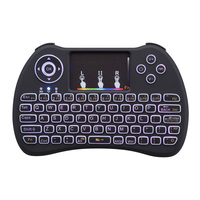 H9 Colorful Backlight Air Mouse Wireless Mini Keyboard with Backlit Remote Control for Android TV Box IPTV PK T2