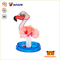 DIY kids toy, flamingo educational toys for children, magic crystal growing paper for talbe decoration