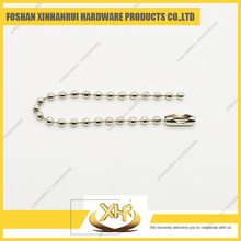 Nickel Bead Chain Necklace Silver Ball Chain 2.4*100mm