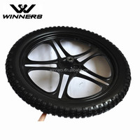 20 inch alloy rim PU solid tire horse cart wheel