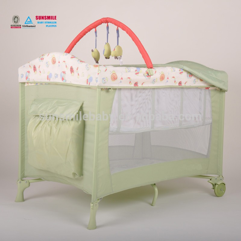 Metal,Plastic,quality ABS plastic and aluminum column Material with Toys Bar Crib Type Cute Baby Cot
