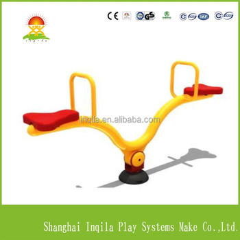 High quality kids outdoor game equipment kids rocking seesaw