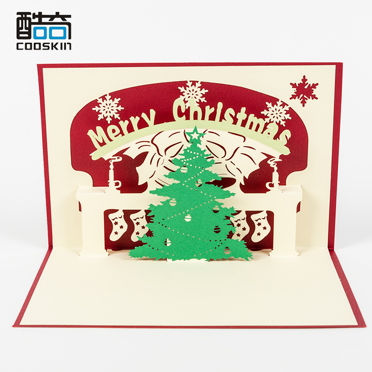 Creative High Quality Wishes Customizd Free Christmas Day Gift Card Sample