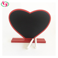 Fancy Red Heart Shaped Desktop Wooden