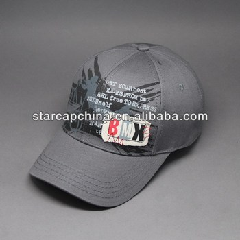 CUSTOM COTTON BASEBALL CAP WITH APPLIQUE AND PRINTING