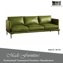 Simple Lounge Suite Hotel Project Genuine Leather Upholstered Sofa