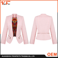 New design fashion style OEM factory supply spring and fall pink Custom Fit formal blazer women
