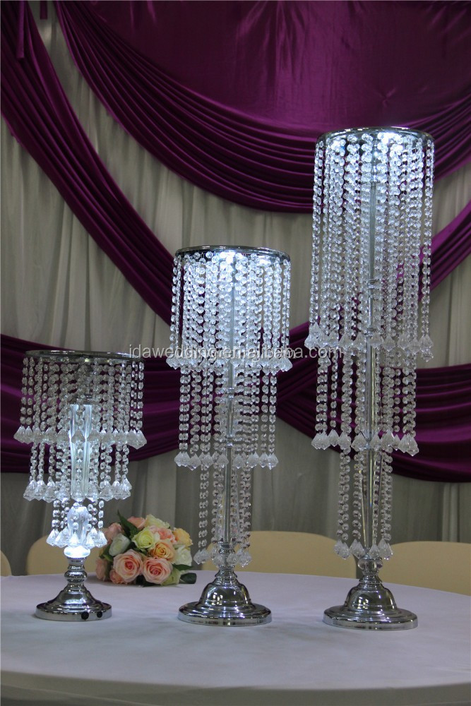 acrylic cake stands with lights/crystal decoration pieces/resina columnas romanas
