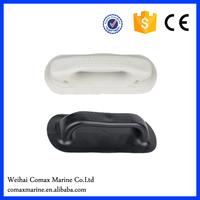 black grey plastic handle on inflatable boat