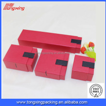 fashion red color jewelry box paper cosmetic box with different size