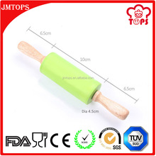 9 Inch (23cm) Custom Pastry Dough Wooden Rolling Pin for Kids