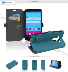 trendy leather case for lg g4 vigor, ultra thin flip wallet cell phone cover case for lg g4