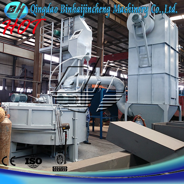 Turntable shot blast cleaning machine for polishing small casting