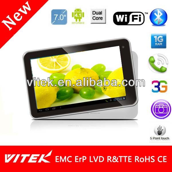 New Dual Core IPS camera best price 7 inch laptop tablet